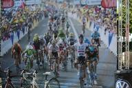 Das Bild zeigt ein Radrennen als Beispiel.