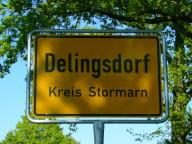 Das Ortsschild der Gemeinde Delingsdorf