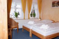 Ein Doppelzimmer im Hotel Dravendahl in Breklum