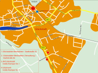 Standorte der Glückstädter Werkstätten in Glüc