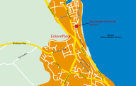 Anfahrt, Kompass '98, Fahrradverleih Eckernförd