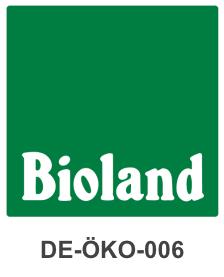Logo Bioland grüner Hintergrund mit weißer Schrift Bioland