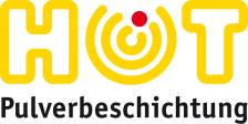 Zu sehen ist das Logo der HOT Oberflächentechnik auf leicht hellgelbem Hintergrund