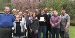 Teilnehmer und Prüfgruppe des Leicht Lesen-Lehrgangs 2018