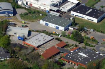 So sieht sie aktuell von oben aus: Luftaufnahme der Eckernförder Werkstatt