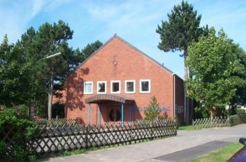 Die Aula des Evangelischen Jugenderholungsdorfes