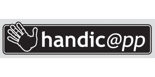 Das Logo mit weißer Schrift auf schwarzem Grund m