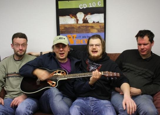 Lars Eckhoff, Hannes Michelsen, Markus Blaschke und Wilcke Wilts sind VACUUM
