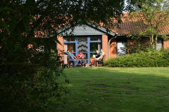 Wohnheim Außenansicht Terrasse