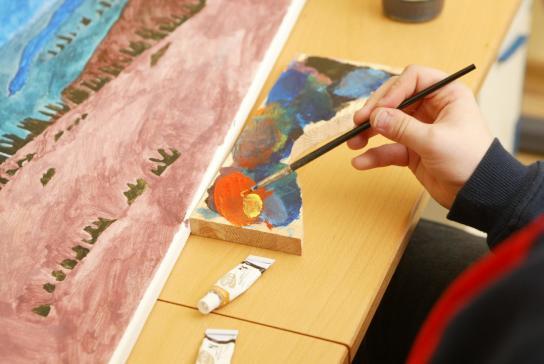 Förderung durch Malen und Gestalten