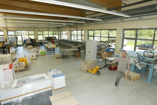 Innenansicht der Druckerei im DwerWerk in Itzehoe