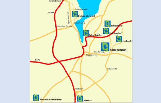 Anfahrtsskizze der Standorte