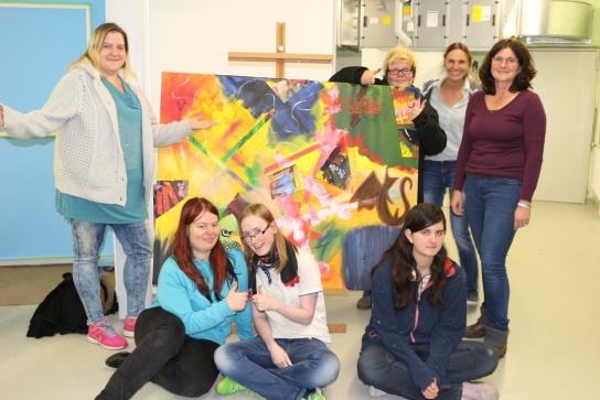 Lisa Schliski, Nadine Udowenko, Selina Müller, Marlies Raulin, Ulrike Maas, Christiane Badura, Jessica Maschke. Es fehlt Thomas Homann.