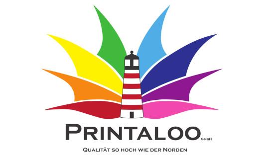 Das neue Logo der Printaloo GmbH, welches durch di