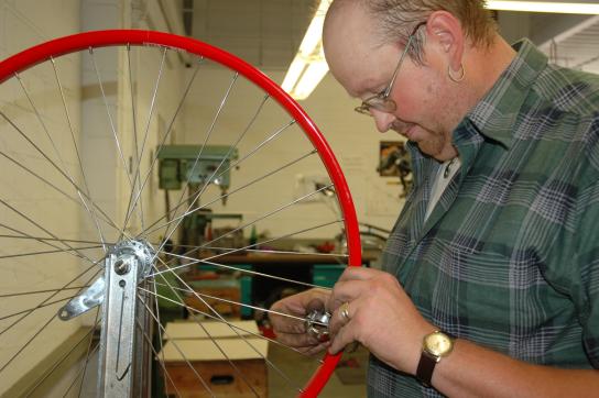 Fahrradreparatur in eigener Werkstatt