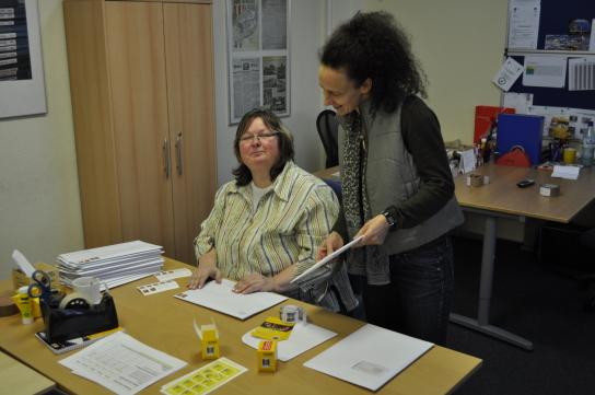 Arbeit im Lettershop