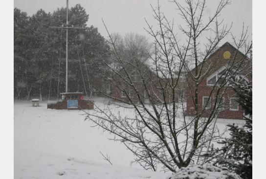 Schnee bedeckter Heiliger Rasen