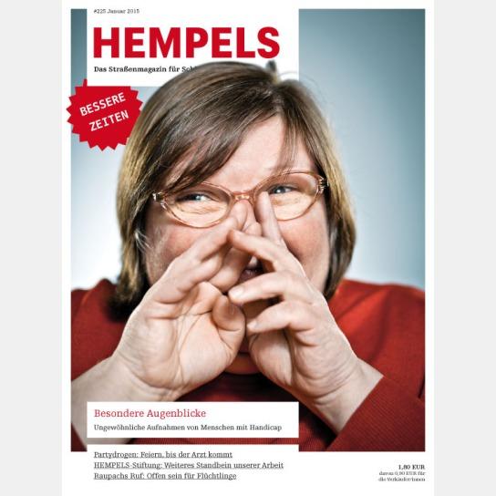 Das Titelblatt des Magazins HEMEPELS zeigt eine la