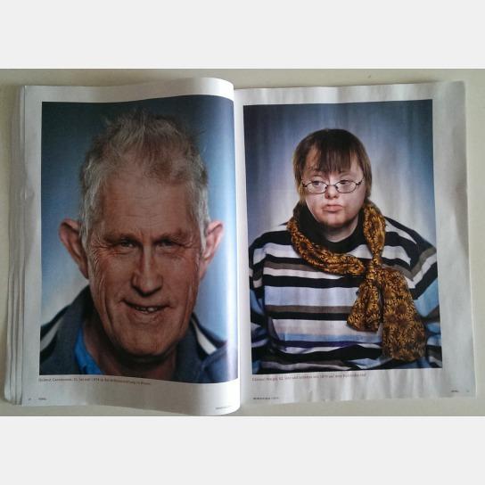 Ein Blick auf eine Doppelseite im Magazin mit zwei