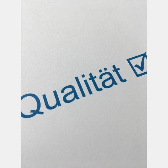 Bild: Schriftzug Qualität