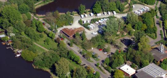 Wohnmobil-Hafen Café Eiderblick