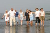 Bild: Eine Gruppe macht eine Geführte Wattwanderu