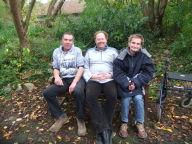 Drei der vier Beiratsmitglieder. Dieter Höft fehl