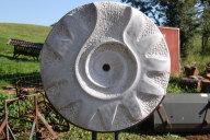 Sie sehen ein Sonnenrad, das mit Stahlfuß 185 cm