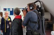 Filmaufnahmen in der Textilgruppe der Werkstätten