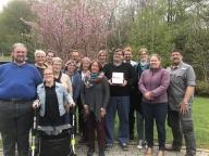 Teilnehmer und Prüfgruppe des Leicht Lesen-Lehrga