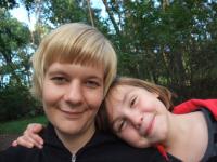 Stephanie Arlt und ihr Patenkind Sophie
