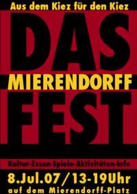"""Flyer """"Mierendorffplatz-Fest"""" 2007"""