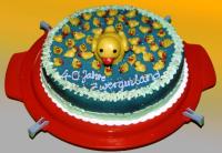 Geburtstagsgruss einer Kita-Mutti: 40 kleine Entchen schwimmen auf dem ...