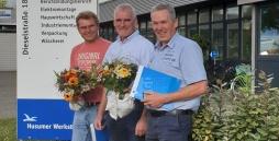 v.l.n.r.: Dirk Davids, Okke Peters, Jürgen Claussen