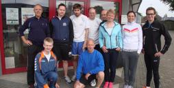Die Läufer als Gruppenbild