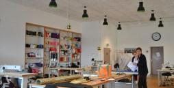 Einen Blick in die neuen, hellen Räumlichkeiten des Textilbereiches
