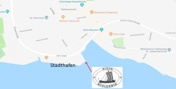Karte mit Sicht auf den Liegeplatz der Sigyn