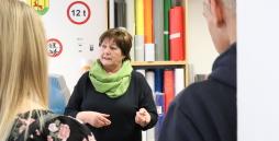 Blick in die neuen Fertigungsräume der Beschrifter in der Kollunder Str. 9 in Rendsburg