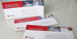 Dies sind die neuen Flyer für die Workshops und Lehrgänge von capito Schleswig-Holstein.