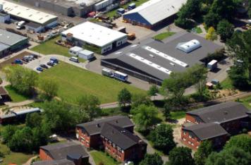 Vieles hat sich verändert: eine aktuelle Luftbildaufnahme der Glückstädter Werkstätten