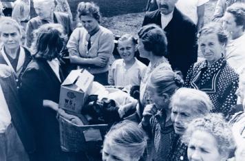 Nicht nur in den Flüchtlingslagern waren noch immer viele Menschen auf Hilfe aus dem Ausland angewiesen