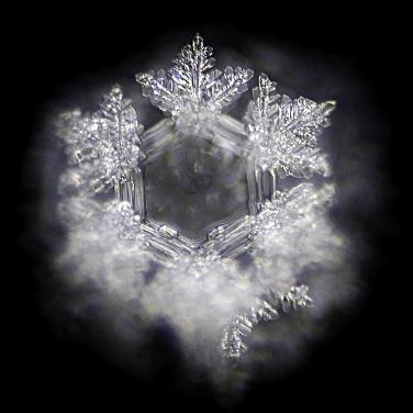 Ein gut2- Wasserkristall ist hier etwas verschwomm