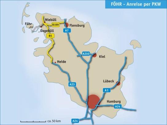 Bild: Föhr - Anreise per PKW