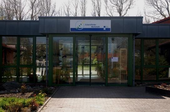 Eingang der Eckernförder Werkstatt