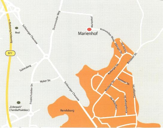 Anfahrtskizze zum Marienhof