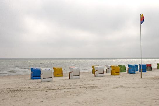 Bunte Strandkörbe