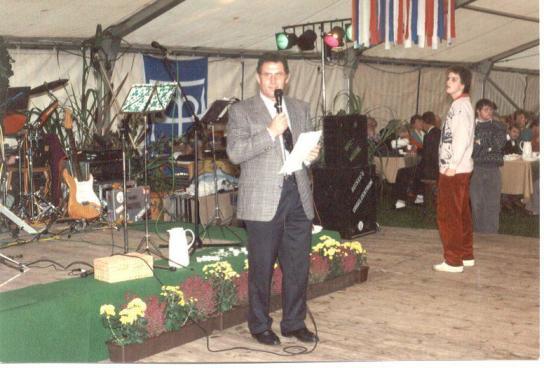 Alfred Becker, Leiter des Holländerhofes, bei der 25-Jahre-Feier