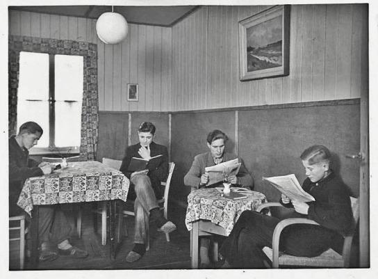 Das Lesezimmer war einer der Rückzugsorte der Jungen im JAW