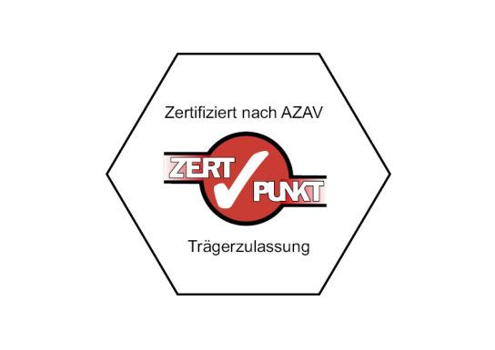 Zertifizierungs-Siegel. Zugelassen und zertifizier
