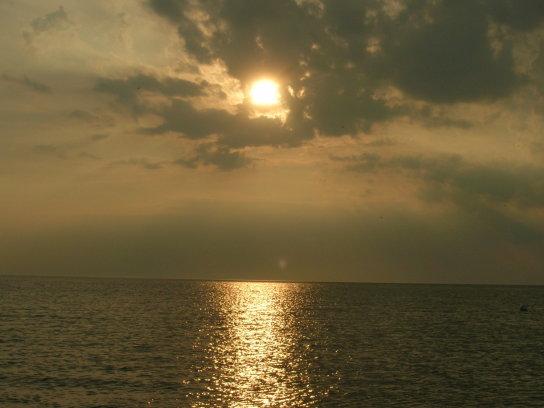Sonne über der Nordsee
